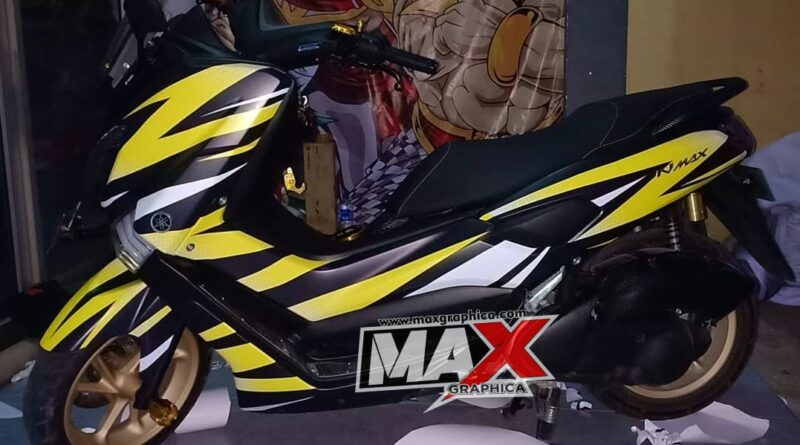 decal nmax hitam kuning maxgraphica cutting sticker sidoarjo